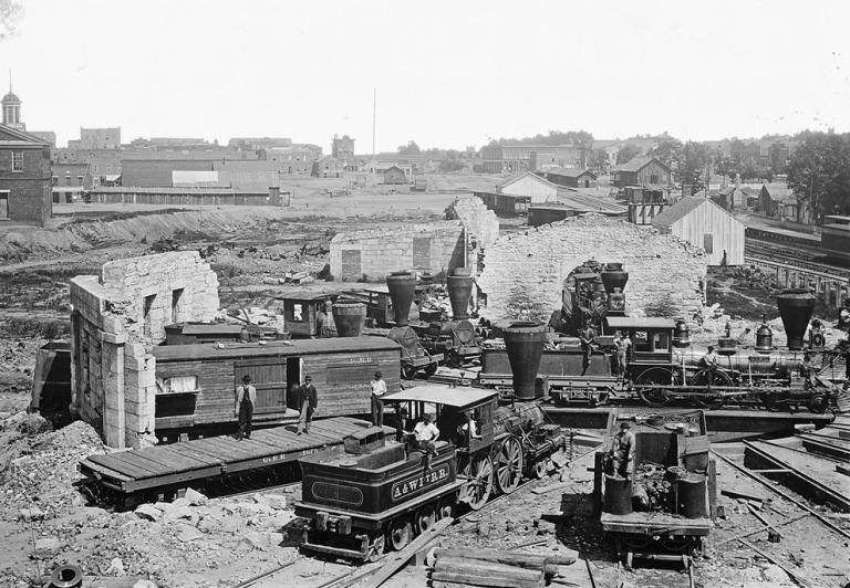 Atlanta destruction after Sherman left Atlanta on his march to Savannah.