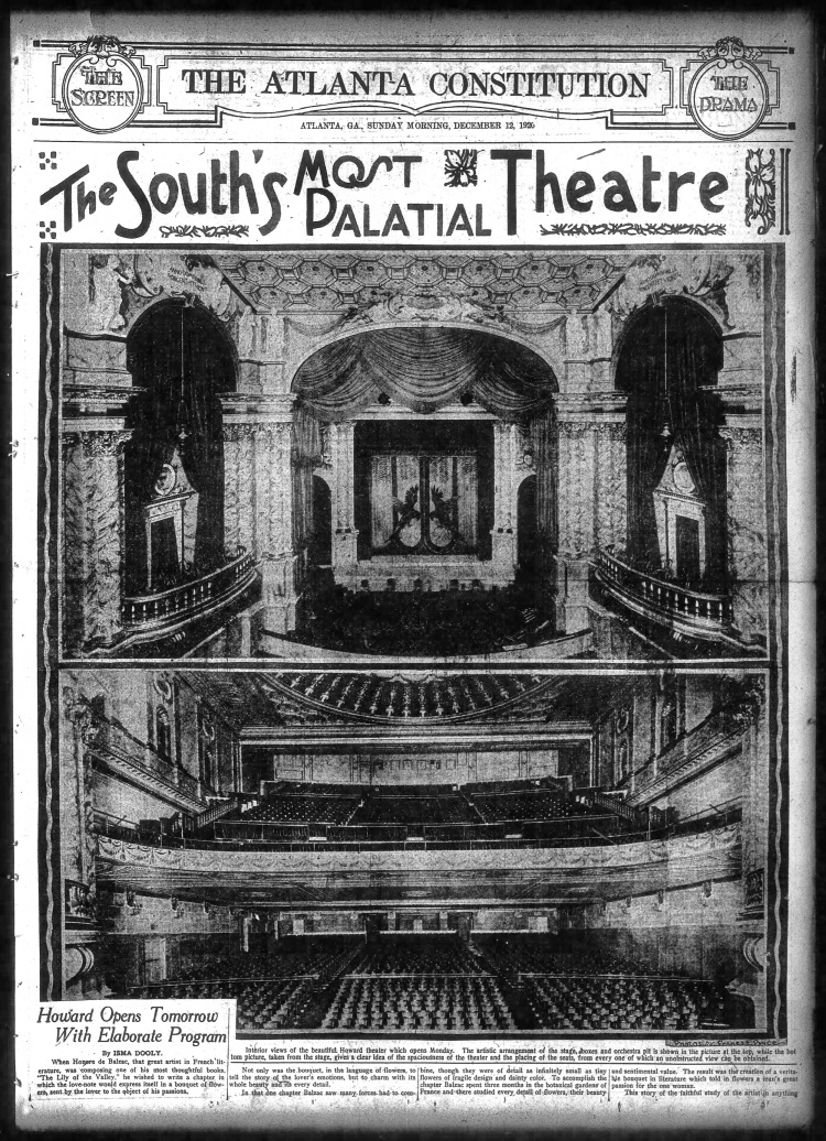 Opening_of_Howard_Theater,_Atlanta; 1920 Paramount
