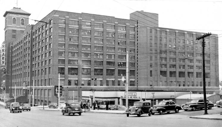 An AJC file photo of ther Sears building from the Glen Iris/Ponce de Leon intersection. taken in March 1948.
